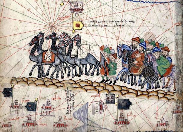 The caravan of Marco Polo. (Public Domain)