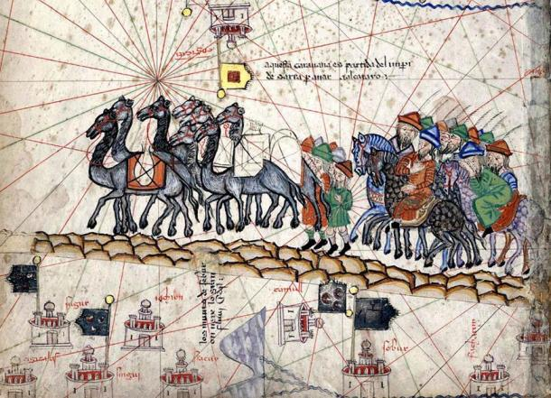 The caravan of Marco Polo. (Public Domain)