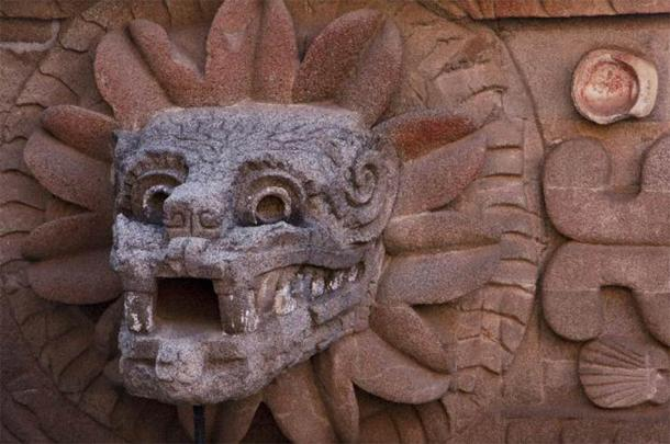 Quetzalcoatl head in Teotihuacan. (Josue /Adobe Stock)