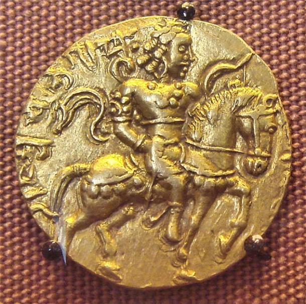 Coin of the Gupta king Chandragupta II. (CC BY-SA 3.0)