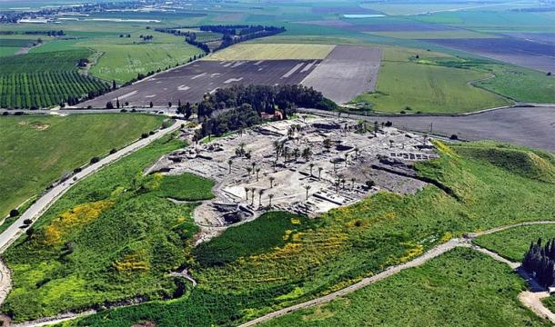 """Tel Megiddo is the site of the ancient city of Megiddo which is best known by its prophetic Greek name - """"Armageddon"""". (AVRAM GRAICER/CC BY-SA 3.0)"""
