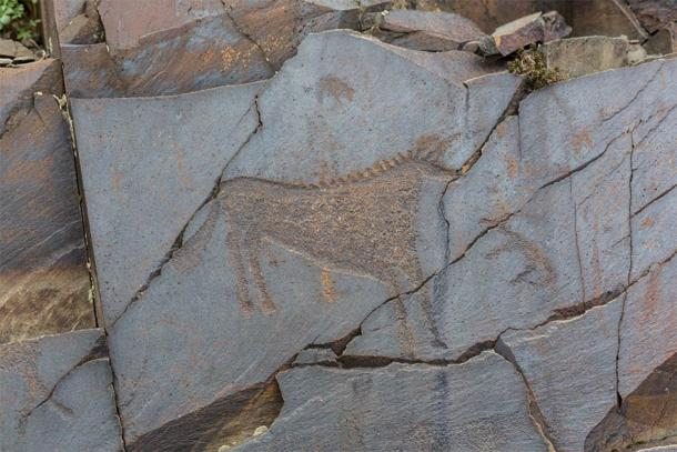 The ancients Petroglyphs in Tamgaly in Kazakhstan (coob.kz / Adobe Stock)