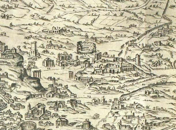 Detail of plan of Rome showing the Palatine. (Peter1936F / CC BY-SA 4.0)