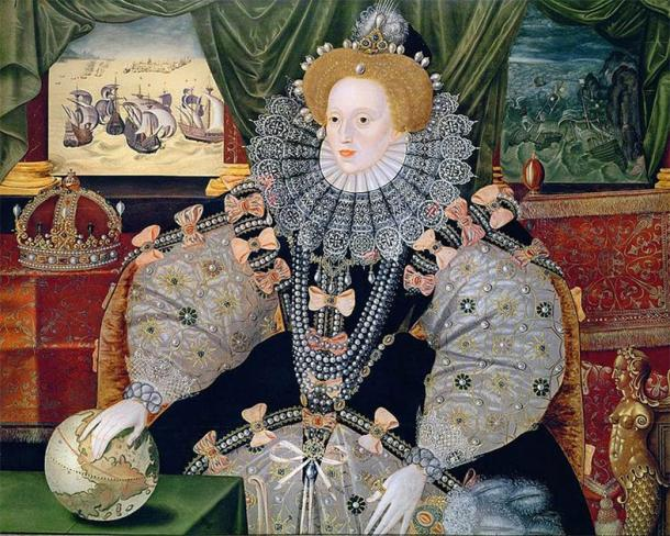 Armada Portrait of Elizabeth I, by George Gower. (Public domain)