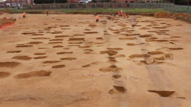 Some 200 Anglo-Saxon graves have been found, including cremations and burials. (Suffolk County Council)