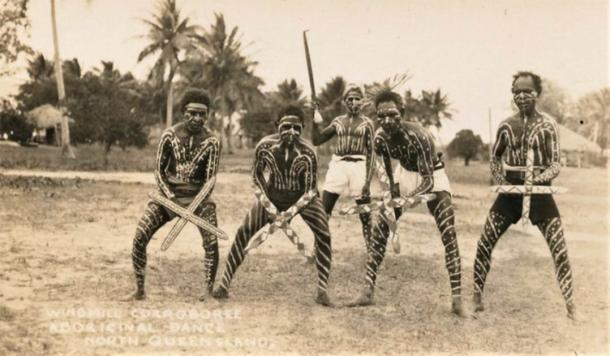 Windmill Corroboree, Aboriginal Dance, North Queensland - very early 1900s. (Public Domain)