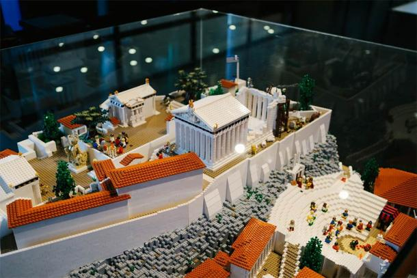 Lego Acropolis exhibition in The Acropolis Museum in Athens, Greece, December 2019. Source: University of Sydney