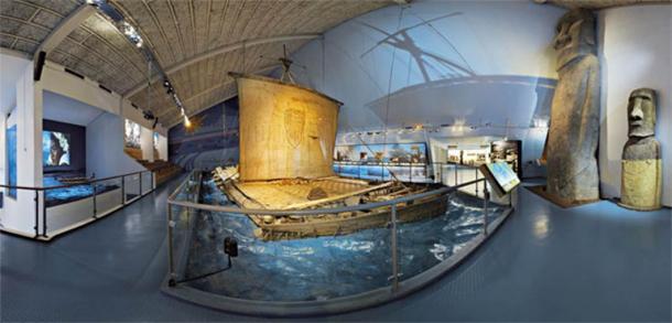 The Kon-Tiki raft in the Kon-Tiki Museum, Oslo, Norway (CC BY-SA 4.0)