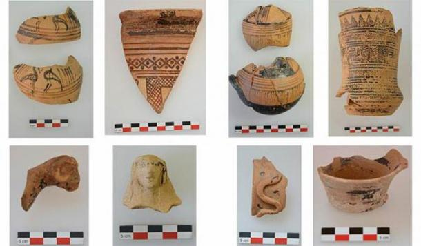 Geometric and Archaic ceramics from the sanctuary. (AMNA/Greek Ministry of Culture)