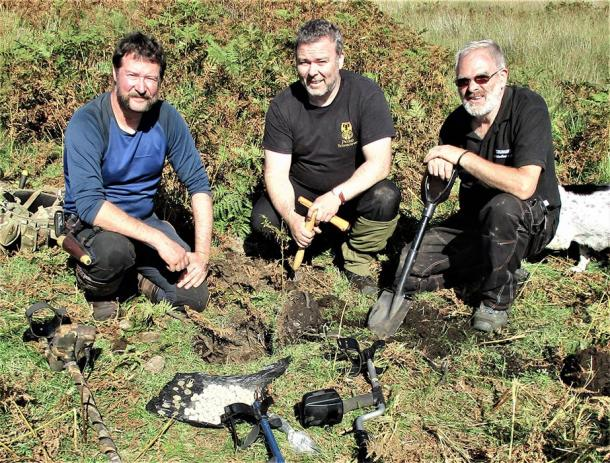The team from Conflicts of Interest, have permits to metal detect near a ruined croft house, and it is here that they found the Jacobite stash. (Paul Macdonald / Conflicts of Interest)