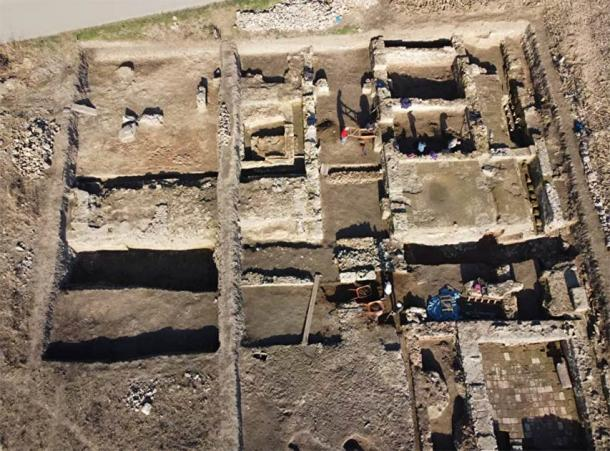 Only a section of the Roman military base near Viminacium has been excavated. (Archaeological Institute in Belgrade)