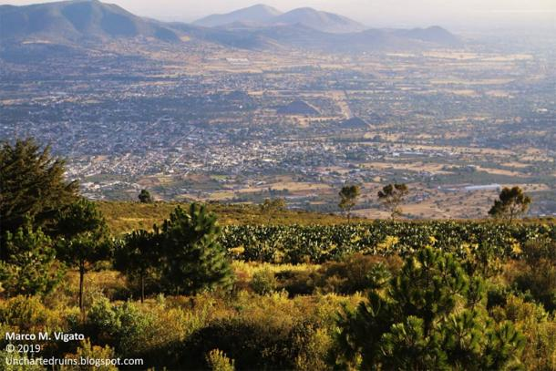 The view over Teotihuacan from the summit of Cerro Gordo. (Image: © Marco M Vigato)