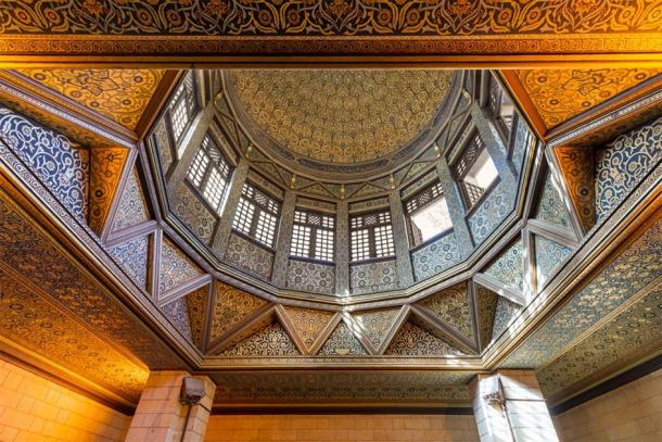 Ceiling of the nilometer building, an Umayyad era Egyptian water measurement construction, used to measure the level of the Nile, located on Roda Island, River Nile, Cairo, Egypt. (Khaled El-Adawi / Adobe stock)