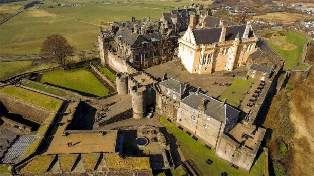 Aerial image of Stirling Castle in Central Scotland. (TreasureGalore /Adobe Stock)
