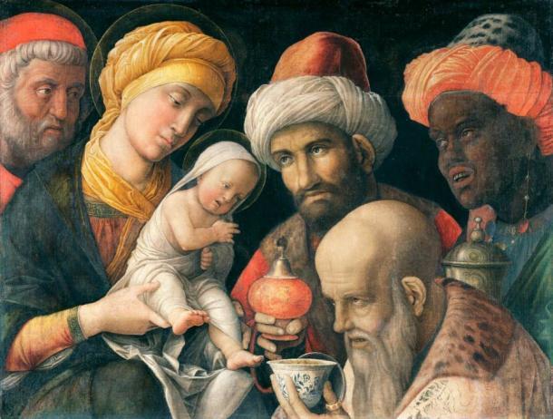 Adoration of the Magi by Andrea Mantegna (1495 ) Getty Centre (Public Domain)