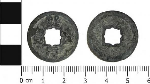 The Chinese coin found in Cheshire in 2018. (Portable Antiquities Scheme/ CC BY SA 4.0)