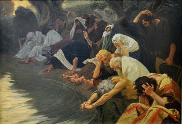 By the Rivers of Babylon by Gebhard Fugel (1920) (Public Domain)