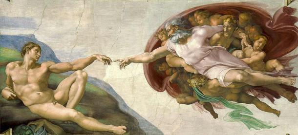 Creation of Adam by Michaelangelo (1511) Sistine Chapel Rome (Public Domain)