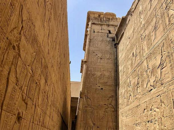 Edfu texts, carved on the temple walls. (CC0)