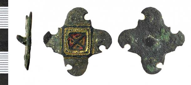 An Anglo-Saxon mount, perhaps from a horse harness, found in Hattem, east Netherlands. (The Portable Antiquities Scheme/ The Trustees of the British Museum/CC BY SA 2.0)