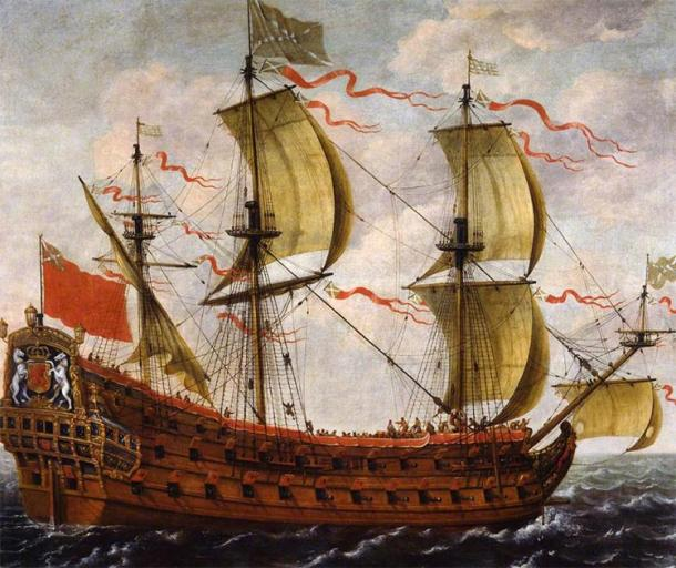 Painting of a Scottish ship, perhaps part of the Darien fleet, by an unknown artist. (Public Domain)