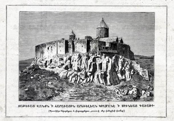 Image of Tatev Monastery from 1881. (Paros Hayastani / Public domain)