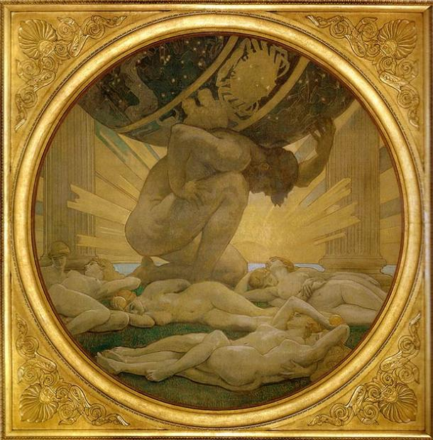 Atlas and the Hesperides. (Public Domain)