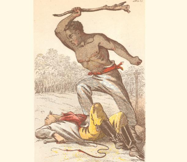 When his Spanish foreman attempted to make an example of him, Miguel grabbed his sword and fought back, managing to escape and establish his kingdom. (Library Company of Philadelphia)