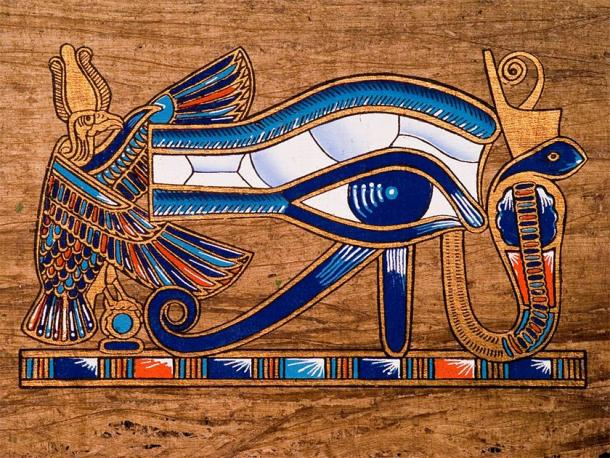 The famous eye of Horus as painted on a piece of papyrus (Jose Ignacio Soto / Adobe Stock)