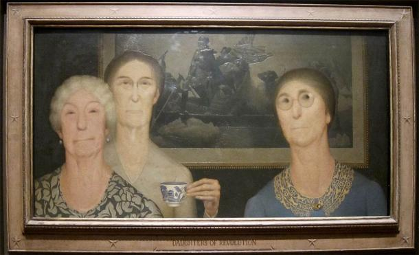 The daughters of the American Revolution (Grant Wood / Public domain)