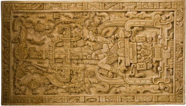 The large carved sarcophagus lid discovered in the Temple of Inscriptions has been interpreted within pseudo-archaeology to be an image of Pakal operating an interstellar vehicle. Erich von Däniken used it as evidence of extraterrestrial contact with the ancient Maya in his bestseller Chariots of the Gods? (Asaf Braverman / Flickr)