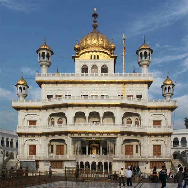 The Akal Takht, situated at the Golden Temple (lehic / Adobe Stock)