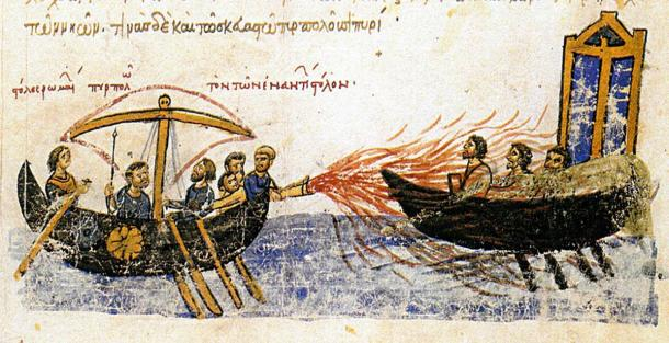 Igor's fleet was utterly crushed thanks to the use of Greek fire by the Byzantine navy. (Public domain)