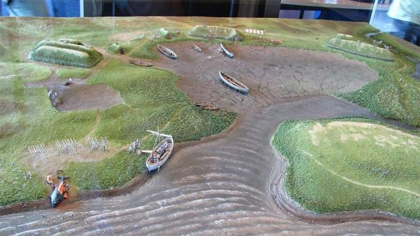 Model of Viking settlement at the L'Anse aux Meadows museum in Newfoundland. (Torbenbrinker / CC BY-SA 3.0)