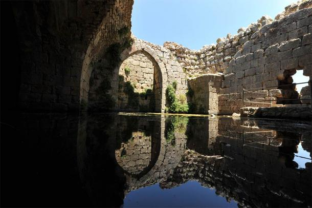 Ancient reservoir for collecting rain water in the Nimrod castle , Golan heights, Israel (PROMA / Adobe Stock)