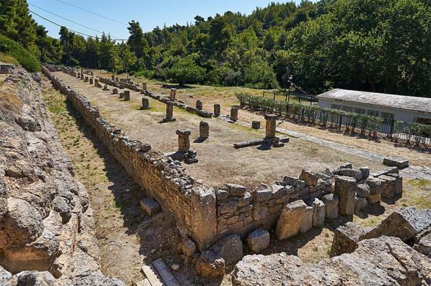 Remains of the Stoa (4th cent. B.C.) at the Amphiareion of Oropos. (George E. Koronaios / CC0)