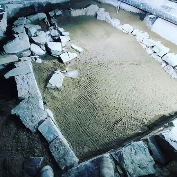 The Hiberno-Norse structure underneath in the new Lidl supermarket in central Dublin, Ireland, designed by the Irish Archaeological Consultancy Ltd ( Andrew Finney)