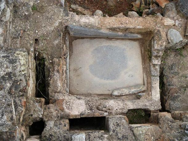 Roman bath of late Antiquity (Image: Ephorate of Antiquities of East Attica)