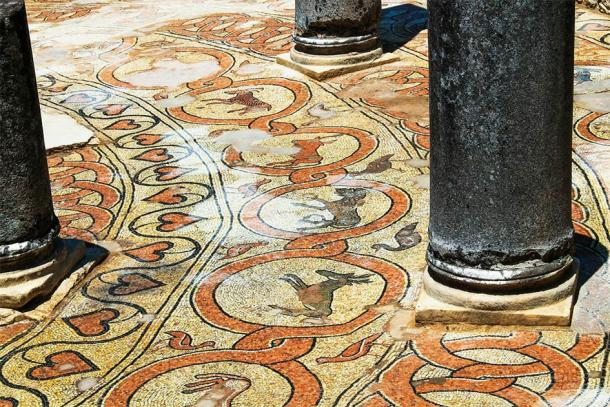 Ancient mosaic flooring of Butrint, Albania. UNESCO World Heritage Site (Irina / Adobe Stock)