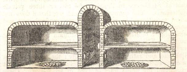 Depiction of an Egyptian egg oven with the chambers shown. (The Penny Magazine / Public domain)
