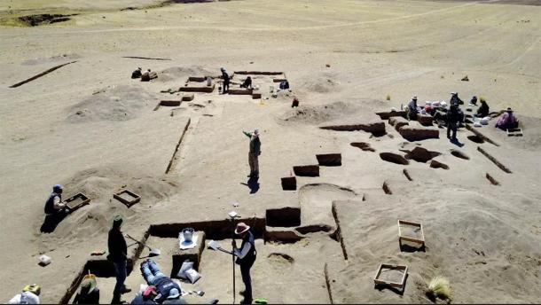 Excavations at Wilamaya Patjxa in Peru, where the female hunter burial was found. (Randall Haas / University of California, Davis)