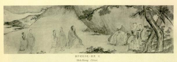 Confucius meets Laozi (Public Domain)