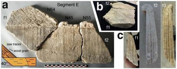 Carbonate segments of the Barbegal elbow flume. (C. C. W. Passchier et al., 2020/Nature)