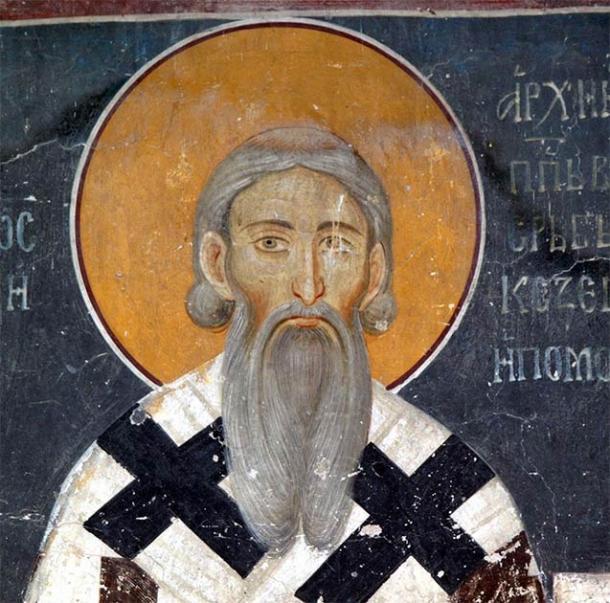 Saint Sava, the Slavic wolf shepherd deity, depicted in the Serbian tradition. (Public domain)