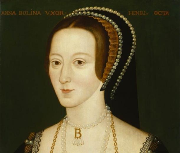 Portrait of Anne Boleyn based on a contemporary portrait which no longer survives (Public Domain)
