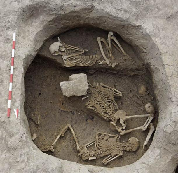 At the Provadia-Solnitsata site archaeologists have discovered several human remains, including a mass grave was found holding the smashed remains of victims that had suffered violent deaths. (Nikolov / OpenEdition Journals)