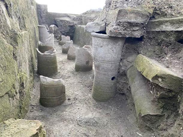 Pillars found in the Roman Legion's headquarters near Viminacium. (Archaeological Institute in Belgrade)