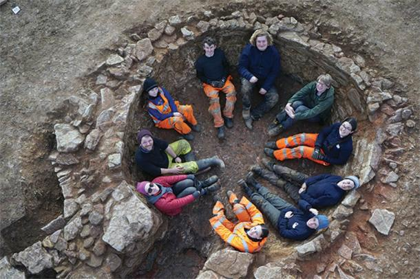 One of the site's most spectacular finds: a well-preserved lime kiln that was so big it could comfortably accommodate the entire excavation team. (Oxford Archaeology East)