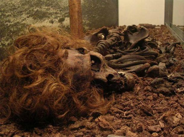 Another image of the Bocksten Man who was murdered so long ago and who is the most famous of all bog body murders. (CC BY 2.0)