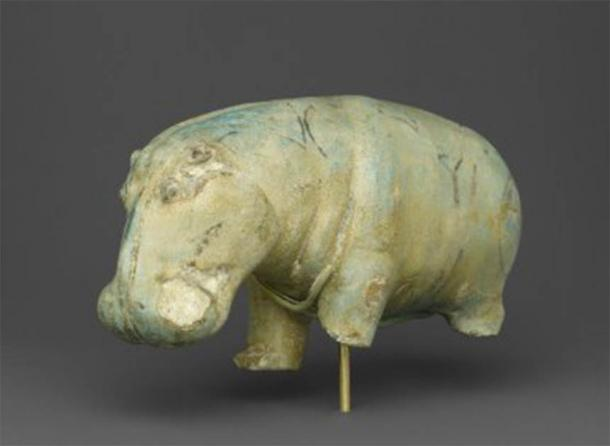 The Brooklyn Museum's ivory Egyptian hippo with three broken legs. (Brooklyn Museum)